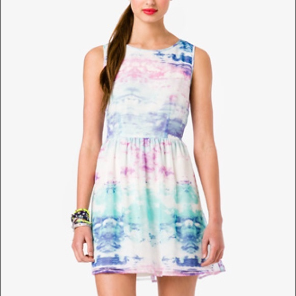Watercolor Dress Forever 21